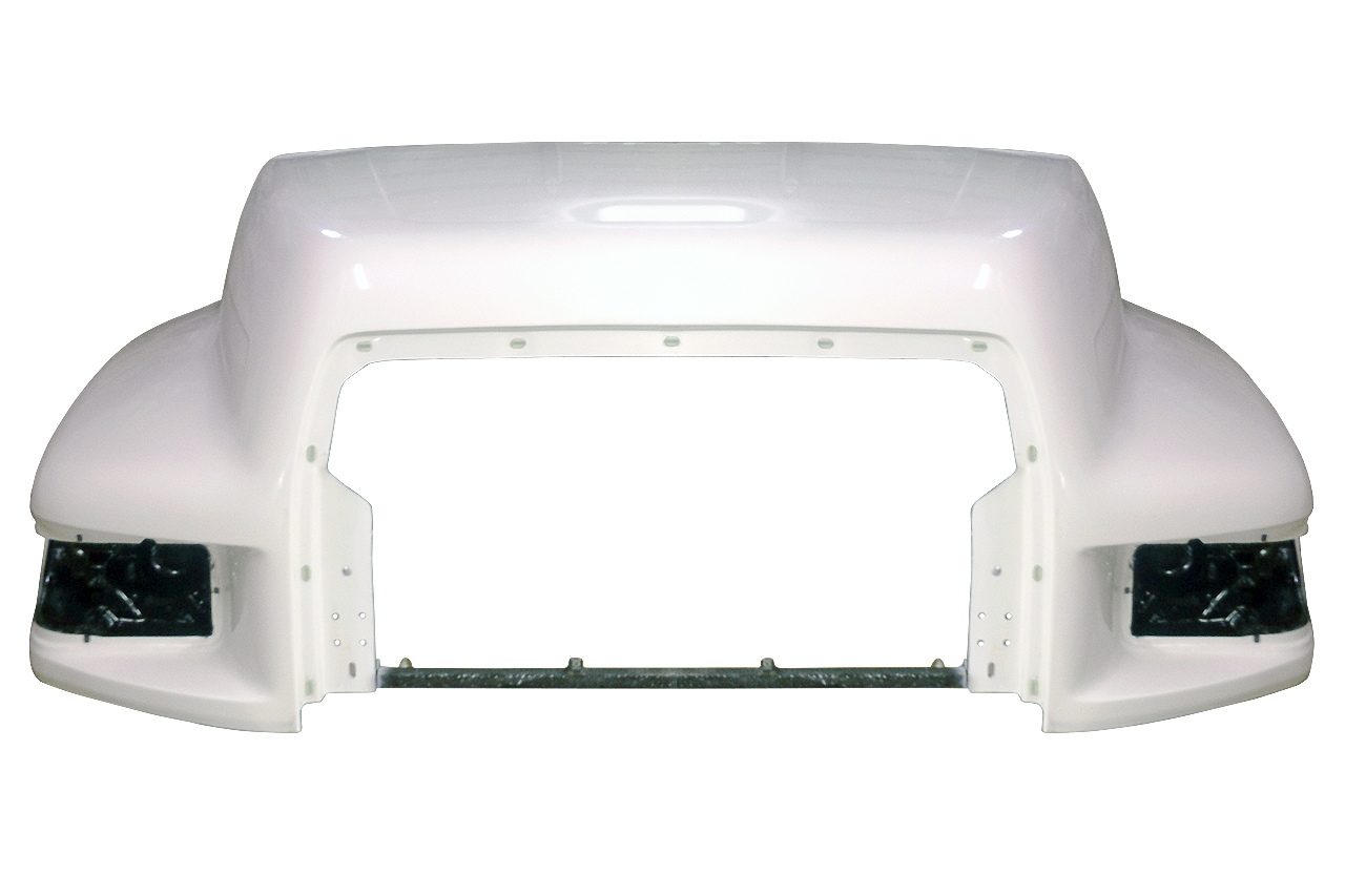 1995 to EARLY 1999 Ford F600, F700, F800 hood for F & B SERIES TRUCKS AND SCHOOL BUS - front - JP-F16