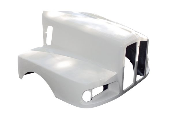 1990 TO 1994 KENWORTH T600B HOOD WITH CURVED COWL & SPLIT GRILL