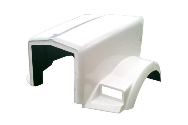 1995 to 2006 KENWORTH T800 HOOD WITH CURVED COWL - JP-K09