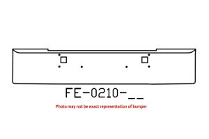 "FE-0210-11 - 1982 and newer Kenworth W900L W900B 18"" bumper"
