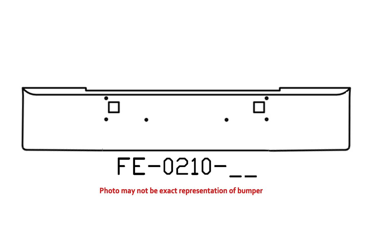 """FE-0210-11 - 1982 and newer Kenworth W900L W900B 18"""" bumper"""