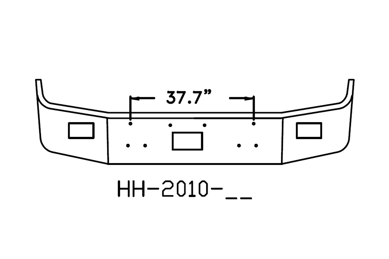 V-HH-2010-17 - 1987 to 1996 Peterbilt 377 18in bumper