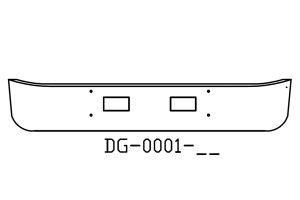 DG-0001-05 1990 - 2003 GMC TopKick 15in Bumper