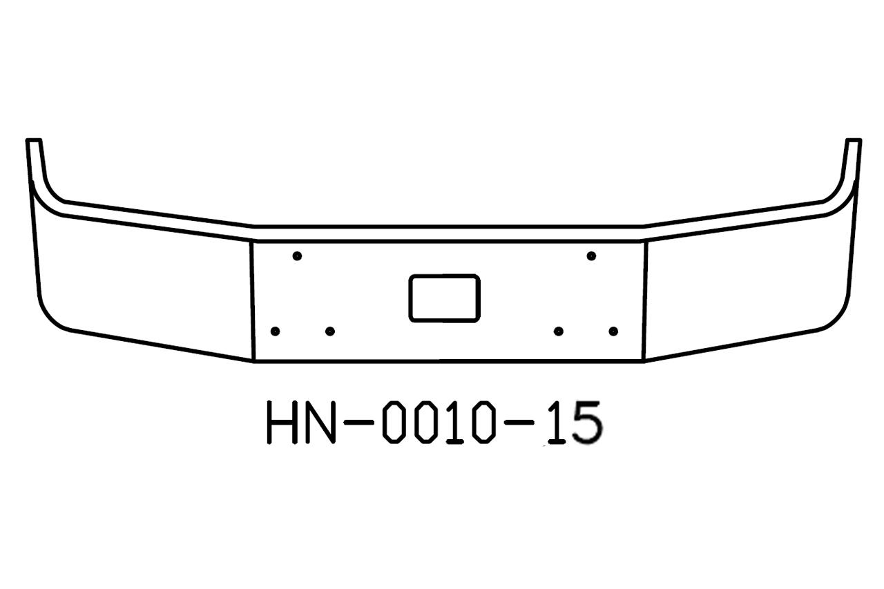 V-HN-0010-15 - Peterbilt 375 / 377AE 12in Bumper
