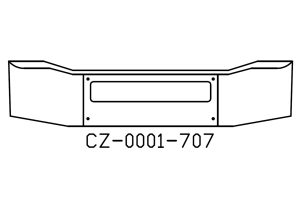 "CZ-0001-707 - 2002 to 2009 Freightliner Coronado 19"" Chrome Bumper"