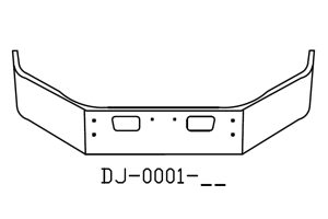 DJ-0001-15 - 2004 and newer GMC 6500, 7500 14in Bumper