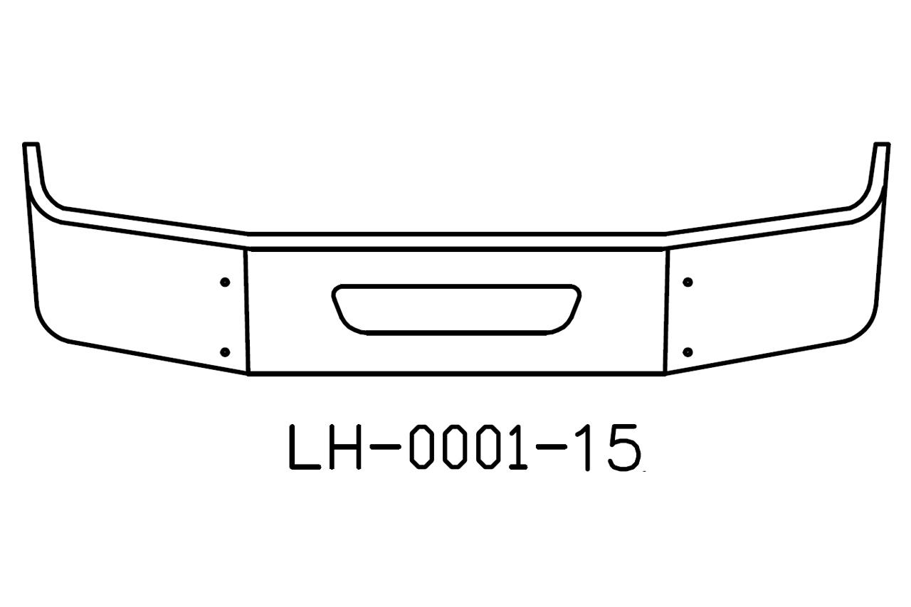 "2004 to 2015 Volvo VNL64T, 630, 670, 780 13"" SBA Bumper"