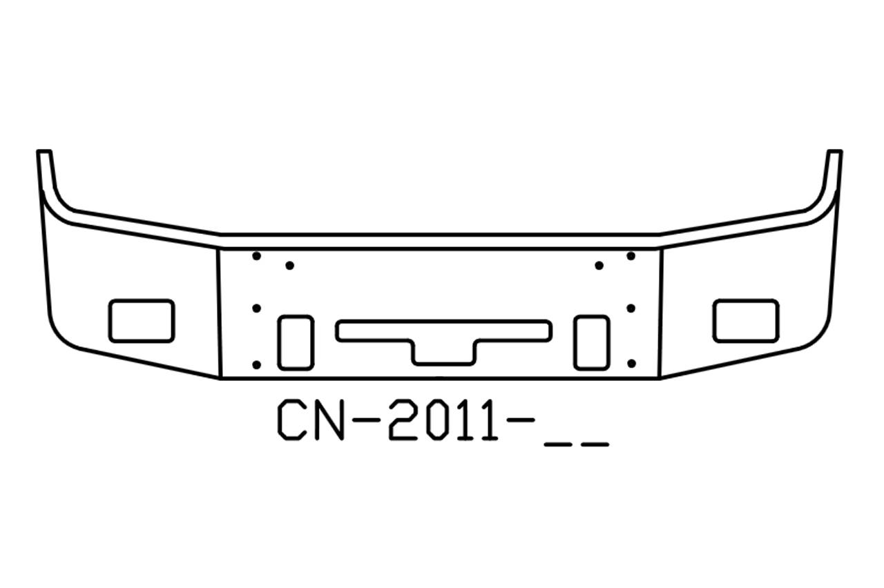 2004 and older Freightliner COLUMBIA Bumper V-CN-2011-16