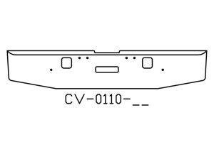 "V-CV-0110-11 - 2004 to 2007 Freightliner Classic XL 18"" bumper"