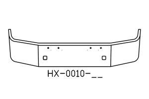 2007 and newer Peterbilt 367 chrome bumper