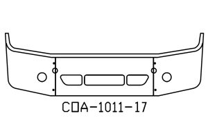 "V-COA-1011-17 - 2008 and Newer Freightliner Columbia 18"" Bumper"