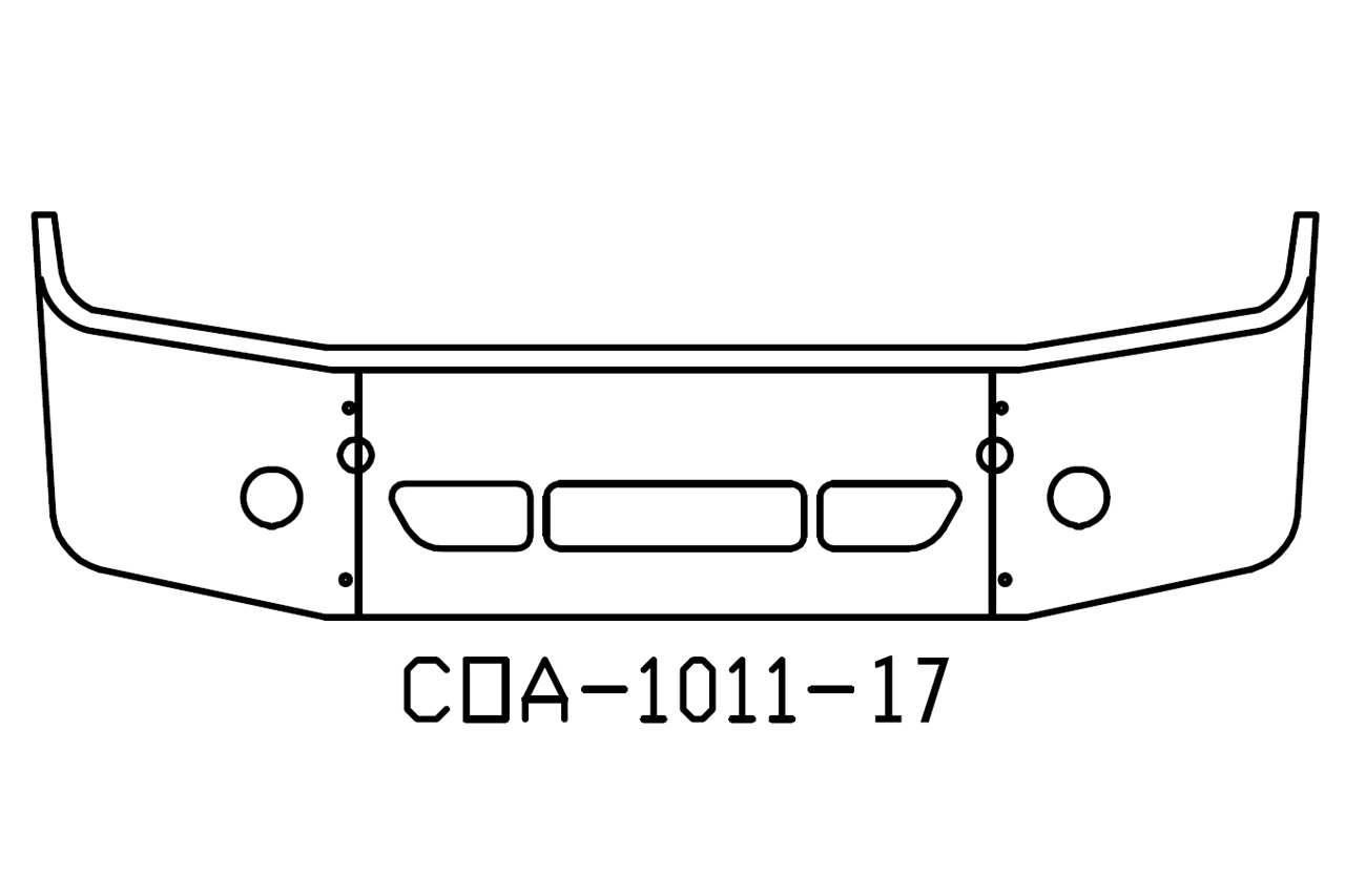 "COA-1011-17 - 2008 and Newer Freightliner Columbia 18"" Bumper"