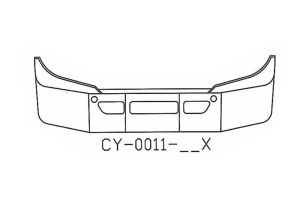 "CY-0011-15X - 2008 to 2013 Freightliner Cascadia 14"" bumper"