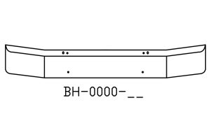 "BH-0000-92 - 1980 to 2003 Ford F Series 16"" Chrome Bumper"