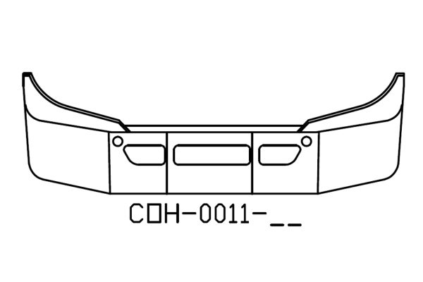 "COH-0011-15X - 2012 and newer Freightliner Cascadia 14"" Bumper"