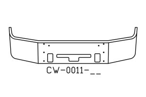 Freightliner Century Columbia 14IN SBA Bumper V-CW-0011-15