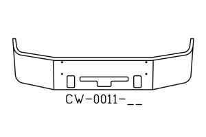 V-CW-0011-16 - 2005 to 2007 Freightliner Century Bumper
