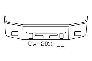 V-CW-2011-16 - 2005 to 2007 Freightliner Century 2004 to 2007 Columbia Bumper