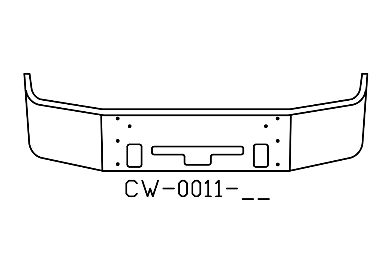 Freightliner Century Columbia Bumper 18 inch V-CW-0011-17