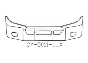 CY-5011-16X - 2008 to 2013 Freightliner Cascadia 16in Bumper