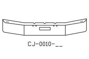 "V-CJ-0010-04 - Freightliner FLD120 12"" Chrome Bumper"