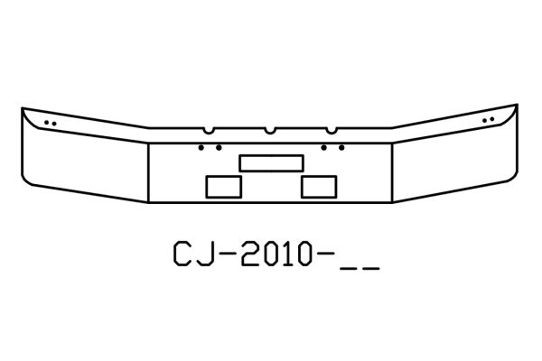 Freightliner FLD120 12in Chrome Bumper - CJ-2010-04