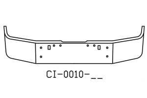 V-CI-0010-17 - 1989 and newer Freightliner FLD120 FLD112 Bumper