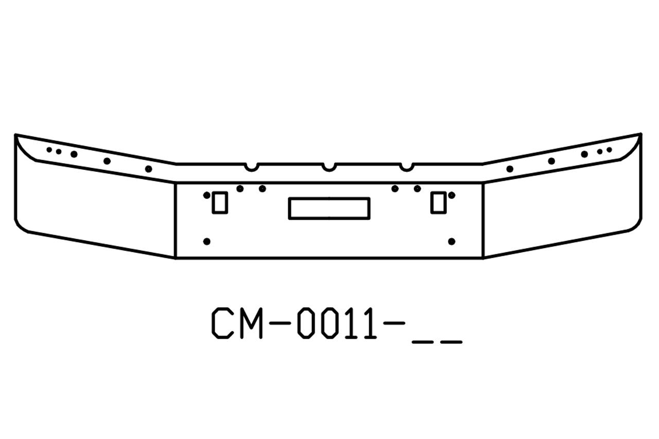 Freightliner FLD120 & FLD112 Chrome Bumper