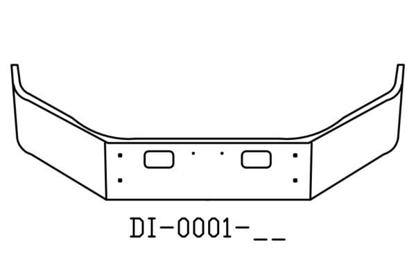 DI-0001-15 - 2004 to 2006 GMC C4500 C5500 14in Bumper