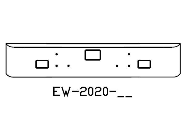 "V-EW-2020-06 Aftermarket, Fits International 5900I 18"" Chrome Bumper on for international 7400 headlight wiring diagrams, international bus wiring diagrams, international sensor wiring diagrams, international truck parts diagrams, international electrical wiring diagrams, international dt 466 engines diagrams, international idm relay wiring diagrams, 2006 international dt466 wiring diagrams,"