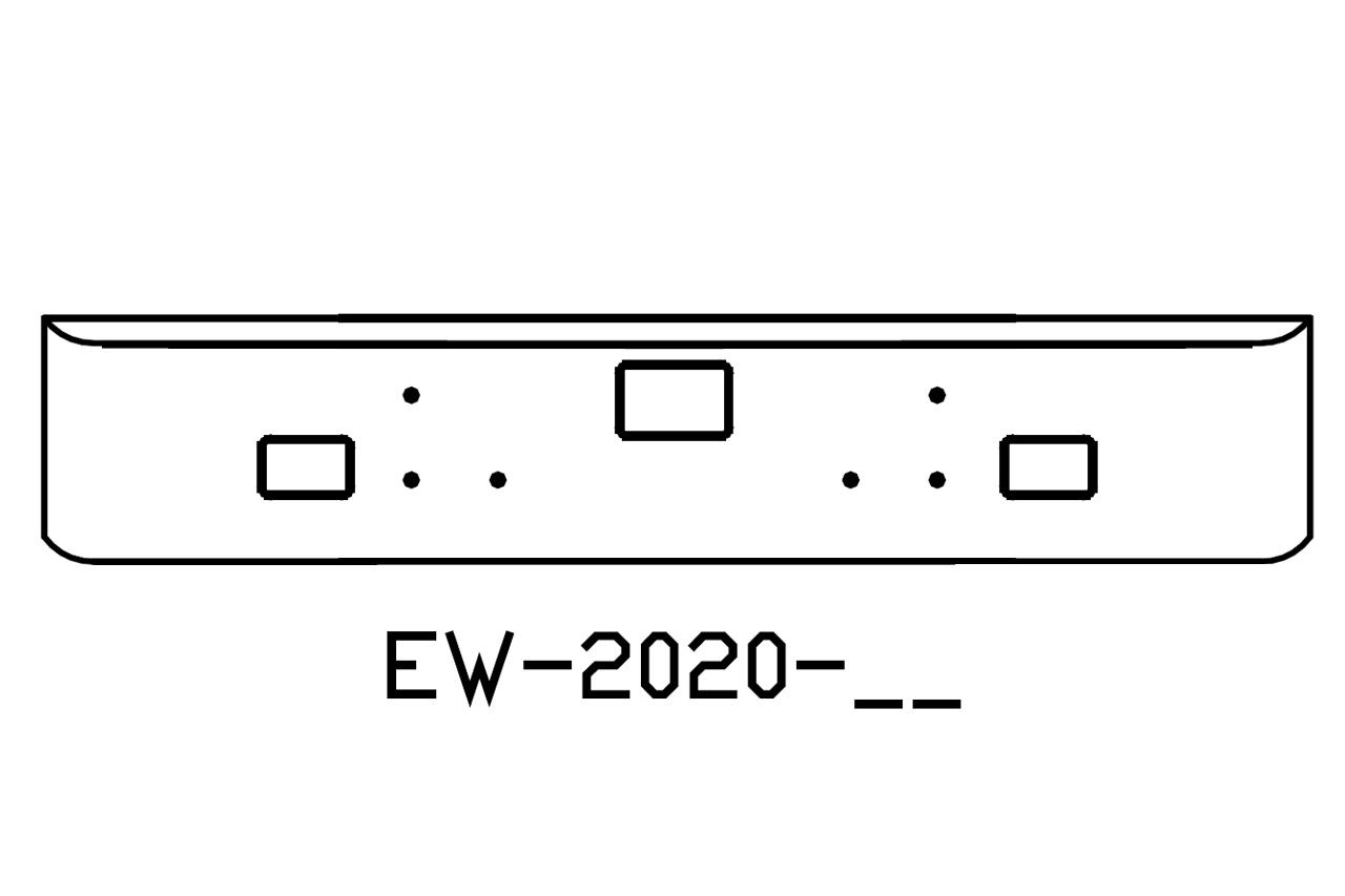 International 5900I 18 in Chrome Bumper