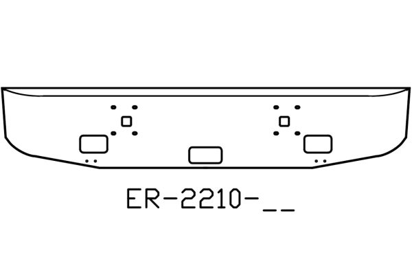 2000 and newer Navistar International 9900IX 16in chrome bumper