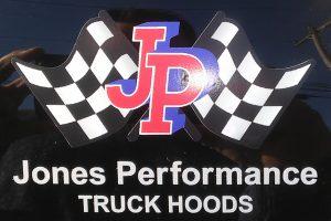 Jones Performance Truck Hoods sticker decal gray