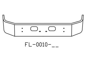 V-FL-0010-18 - Kenworth T300 SFA 13in bumper