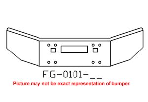 1986 to 2003 Kenworth T800 14in bumper - FG-0101-26