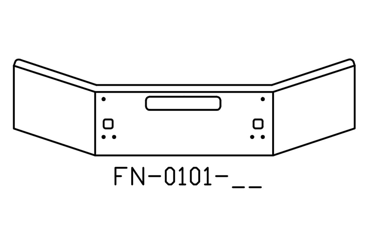 FN-0101-25 - 2004 and newer Kenworth T800B chrome bumper