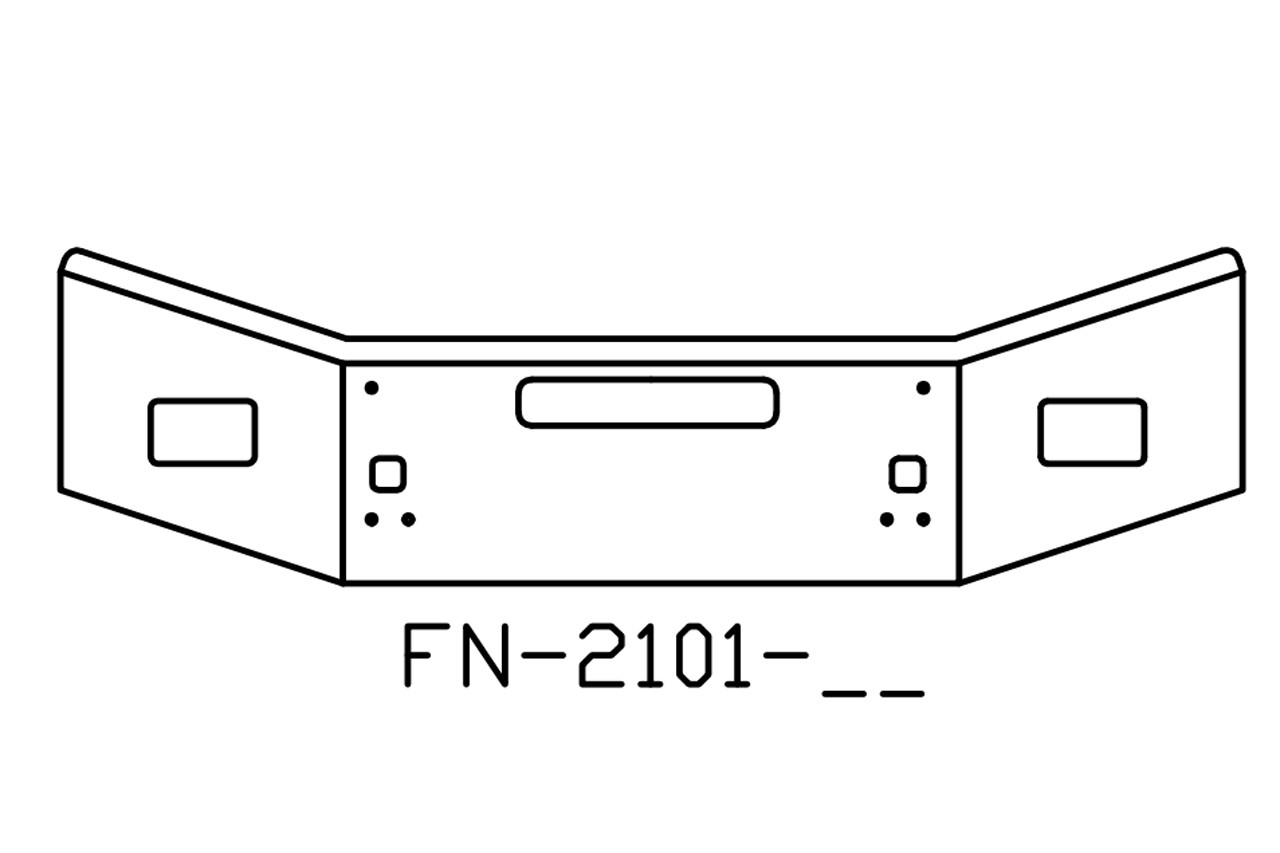 FN-2101-25 - 2004 and newer Kenworth T800B chrome 14in bumper