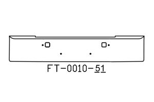 V-FT-0010-51 - 1982 and newer Kenworth W900B bumper