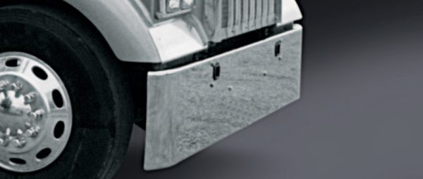 """V-FE-0010-06 Aftermarket, Fits Kenworth W900L W900B Bumper, 18"""" Rolled Square End, 1982 and ..."""