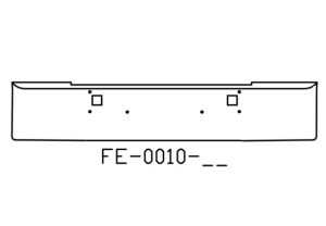 "FE-0010-11 - 1982 and newer Kenworth W900L W900B 18"" bumper"