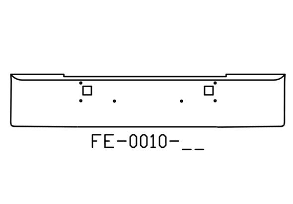 """V-FE-0010-11 - 1982 and newer Kenworth W900L W900B 18"""" bumper"""