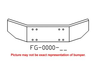 V-FG-0000-26 - 1986 to 2003Kenworth T-800 14in bumper