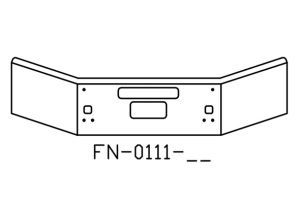 FN-0111-26 - 2004 and newer Kenworth T880B chrome 14in bumper