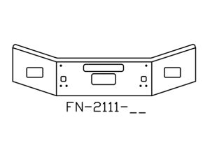 FN-2111-26 - 2004 and newer Kenworth T800 14in CHROME BUMPER