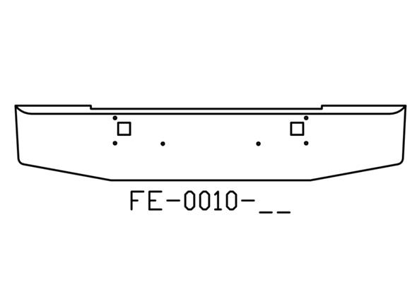 FE-0010-06 - 1982 and newer Kenworth W900L W900B 18in chrome bumper