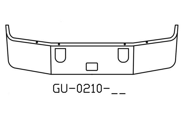 2001 to 2004 Mack Vision CX613 chrome bumper