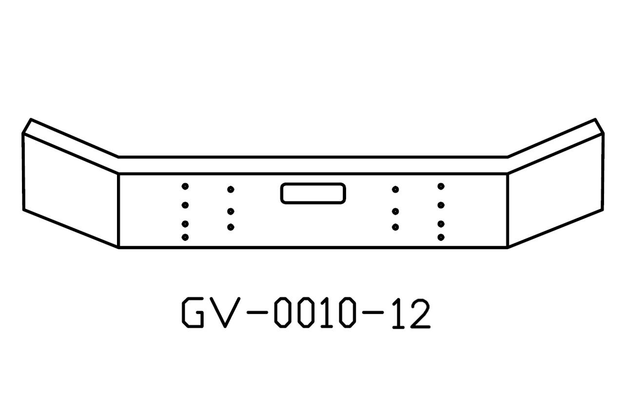 V-GV-0010-12 - Mack RD688 DM 12in bumper