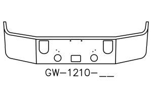 Mack CXN613 Bumper V-GW-1210-16