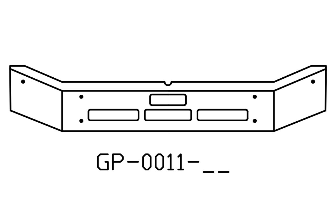 Mack MR MD series 12in chrome bumper - GP-0011-12