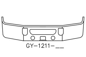 2008 to 2016 Mack CXU613 Bumper - GY-1211-16